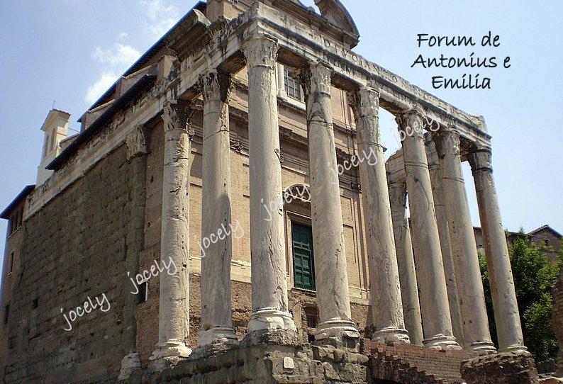 102-ROMA - templo de Antonino e Faustina - 21/05